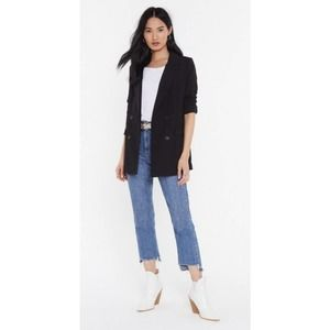 NASTY GAL Double Breasted Relaxed Blazer